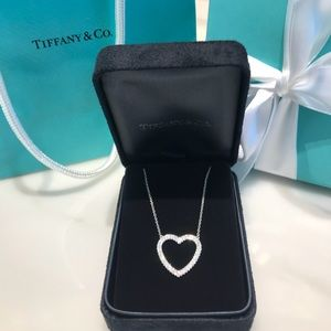 Tiffany Metro Diamond Heart Necklace